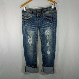 Almost Famous Womens Cropped Capris Size 3